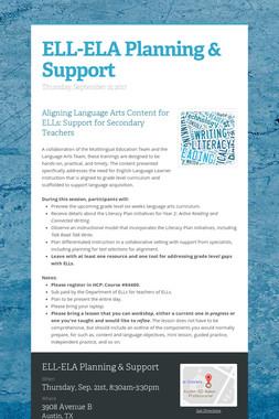 ELL-ELA Planning & Support