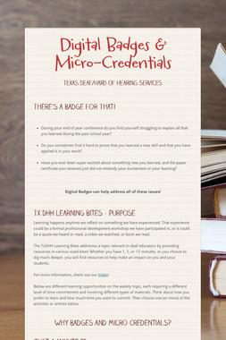Digital Badges & Micro-Credentials