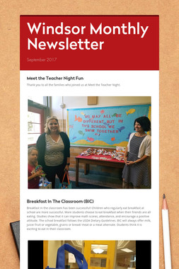 Windsor Monthly Newsletter
