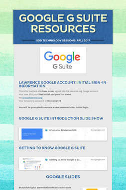 Google G Suite Resources
