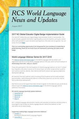 RCS World Language News and Updates