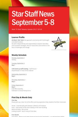 Star Staff News   September 5-8