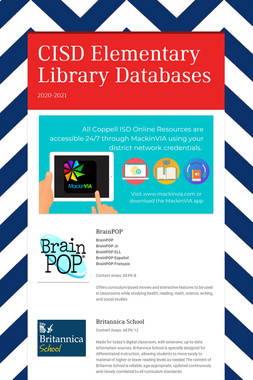 CISD Elementary Library Databases