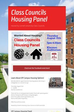 Class Councils Housing Panel