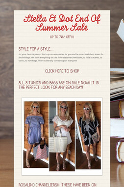 Stella & Dot End Of Summer Sale