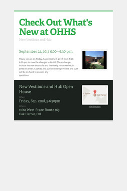 Check Out What's New at OHHS