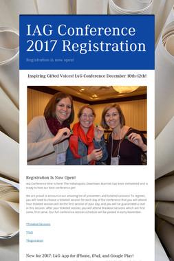 IAG Conference 2017 Registration