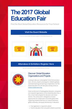 The 2017 Global Education Fair