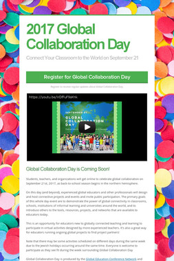 2017 Global Collaboration Day