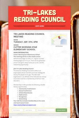Tri-Lakes Reading Council