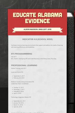 Educate Alabama Evidence