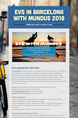 EVS in Barcelona with Mundus 2018