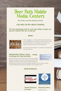 Deer Path Middle  Media Centers