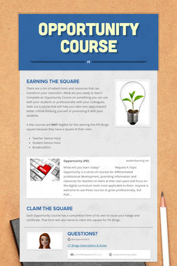 Opportunity Course