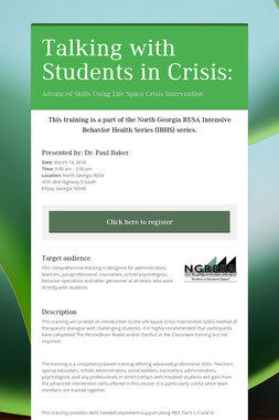 Talking with Students in Crisis:
