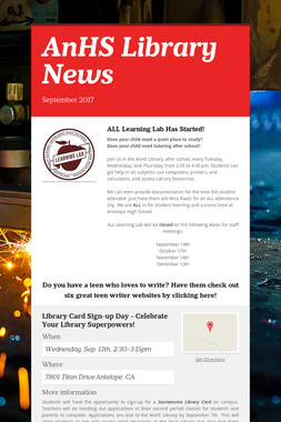 AnHS Library News