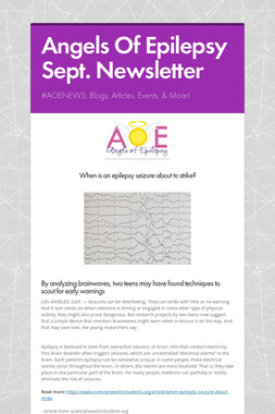 Angels Of Epilepsy Sept. Newsletter