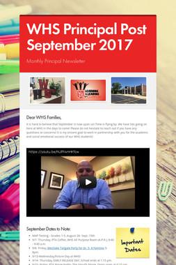 WHS Principal Post September 2017