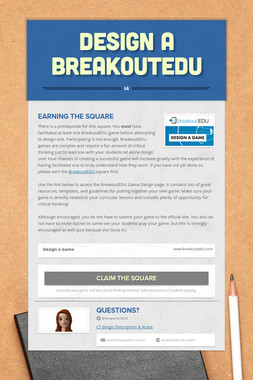Design A BreakoutEDU