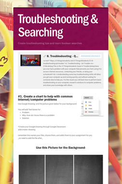 Troubleshooting & Searching