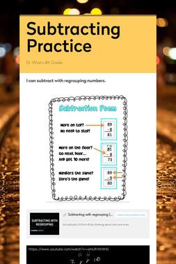 Subtracting Practice
