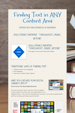 Finding Text in ANY Content Area
