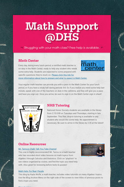 Math Support @DHS
