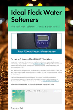 Ideal Fleck Water Softeners