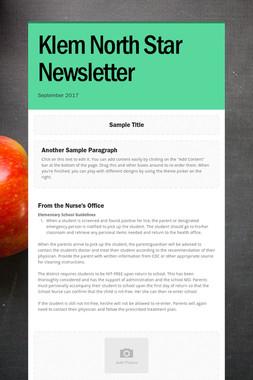 Klem North Star Newsletter