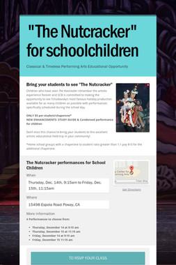 """""""The Nutcracker"""" for schoolchildren"""