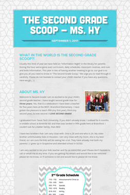The Second Grade Scoop - Ms. Hy