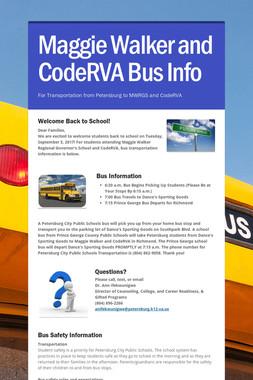 Maggie Walker and CodeRVA Bus Info