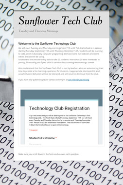 Sunflower Tech Club