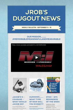 JROB's Dugout News