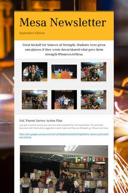 Mesa Newsletter