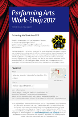 Performing Arts Work-Shop 2017