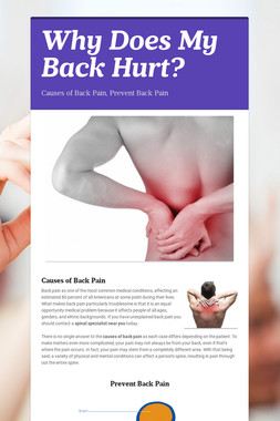 Why Does My Back Hurt?