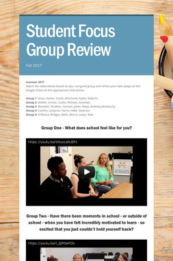 Student Focus Group Review