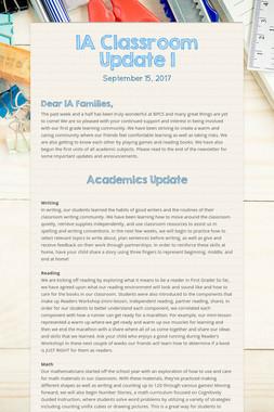 1A Classroom Update 1