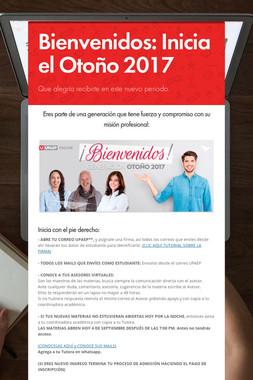 Bienvenidos: Inicia el Otoño 2017