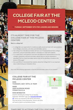 College Fair at the McLeod Center