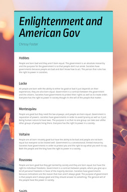 Enlightenment and American Gov
