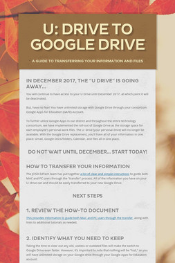 U: Drive to Google Drive