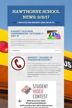 Hawthorne School News: 9/8/17