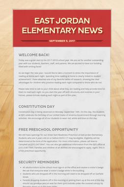 East Jordan Elementary News