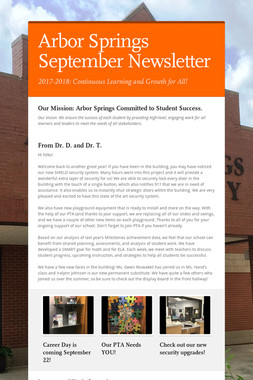 Arbor Springs September Newsletter