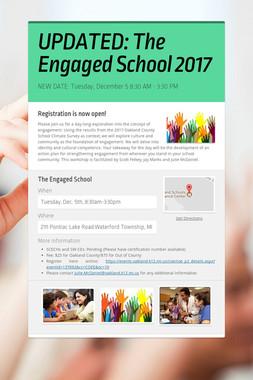 UPDATED: The Engaged School 2017