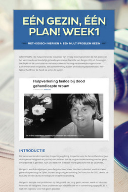 Eén gezin, één plan! week1
