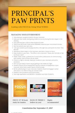 PRINCIPAL'S PAW PRINTS