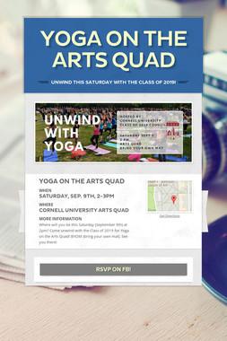Yoga on the Arts Quad